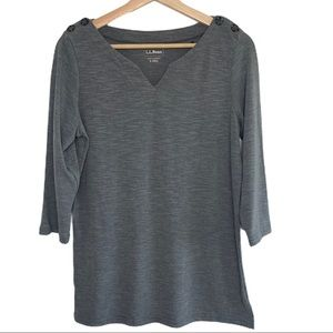 L.L. Bean 3/4 Sleeve Casual Top